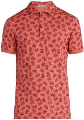 Bottega Veneta Butterfly-print polo shirt