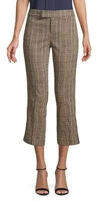 Lord & Taylor Plaid Side Stripe Cropped Pants