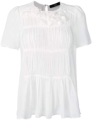 457cd0447ce39 White Ruched Blouse - ShopStyle