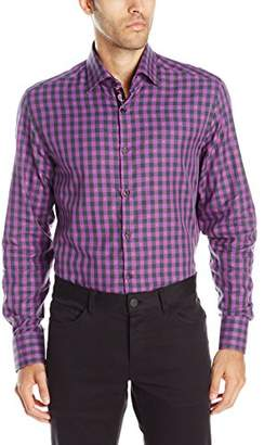 Stone Rose Men's Long Sleeve FIL Coupe Check Button Down Shirt