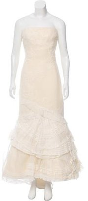 Vera Wang Lace Pleated Wedding Gown $1,195 thestylecure.com