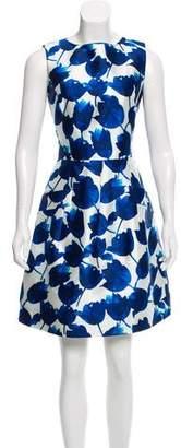 Oscar de la Renta Floral Silk-Blend Dress