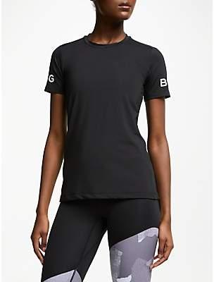 Bjorn Borg Carla Short Sleeve Training Top, Black Beauty