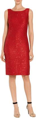 St. John Glamour Sequin Knit Dress