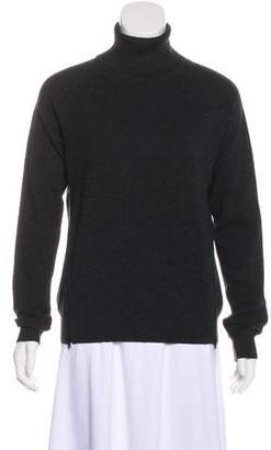 Theory Zip-Accented Knit Sweater