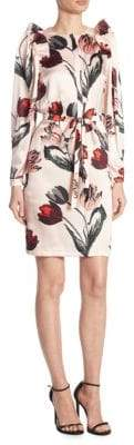 Mother of Pearl Isabella Silk Tulip Shirtdress