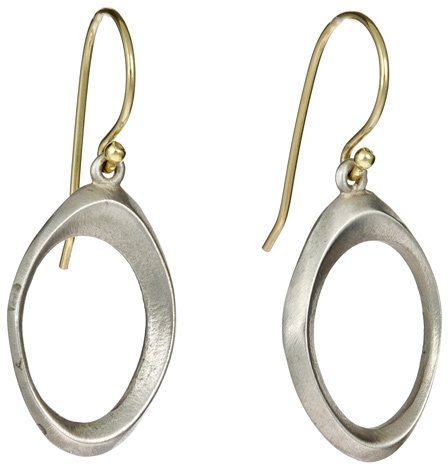 Vicente Agor Large Silver Slope Earrings