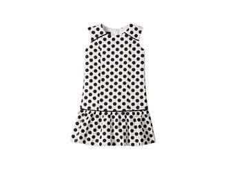Oscar de la Renta Childrenswear Dots On Tweed Drop Waist Dress (Toddler/Little Kids/Big Kids)