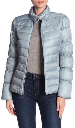 Via Spiga Stand Collar Quilted Jacket