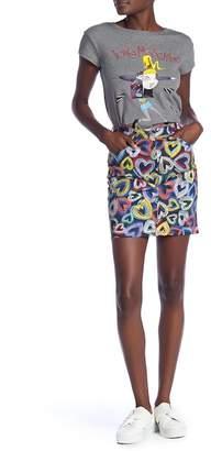 Love Moschino Gonna Tubino Cuori Skirt