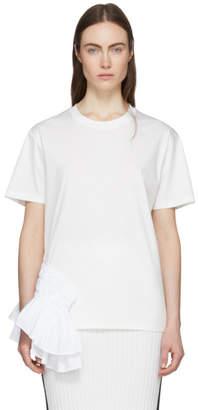 Jil Sander White Ruffle T-Shirt
