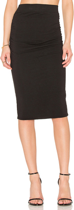 James Perse Shirring Pencil Skirt $165 thestylecure.com
