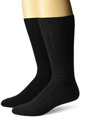 Buttoned Down Men's 2-Pack Merino Wool Dress Socks