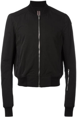 Rick Owens DRKSHDW zipped bomber jacket $1,382 thestylecure.com