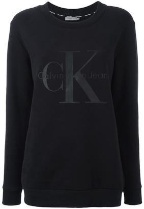 Calvin Klein logo print sweatshirt $96.24 thestylecure.com