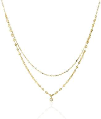 John Greed Sia Gold Plated Silver CZ Layered Necklace