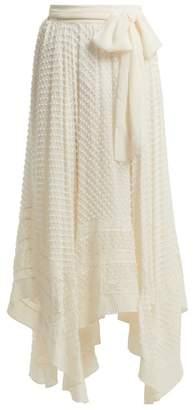 Zimmermann Unbridled Silk Georgette Handkerchief Hem Skirt - Womens - Ivory