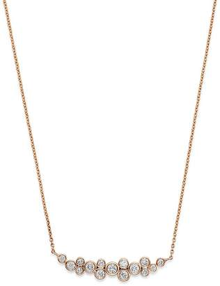 Bloomingdale's Diamond Bezel Motif Necklace in 14K Rose Gold, 0.46 ct. t.w. - 100% Exclusive