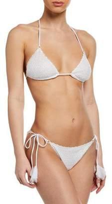 Missoni Mare Bridal Halter Triangle Two-Piece Bikini Set