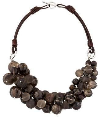 Brunello Cucinelli Multistone Cluster Bead Necklace
