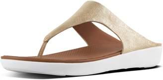 FitFlop Banda Ii Metallic Leather Toe-Thongs
