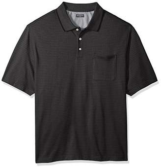 Van Heusen Big and Tall Flex Jacquard Short Sleeve Stripe Polo Shirt
