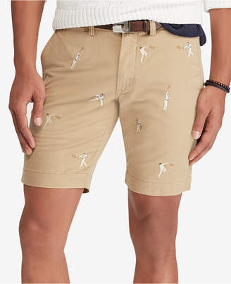 Polo Ralph Lauren Men's Stretch Slim Fit Embroidered Chino Shorts