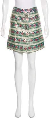 Miu Miu Silk-Blend Skirt