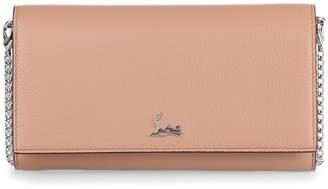 Christian Louboutin Boudoir beige leather chain wallet