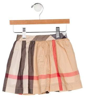 Burberry Girls' Exploded Check Skirt