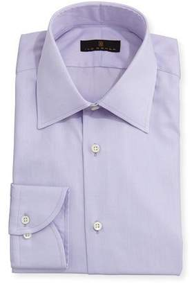 Ike Behar Gold Label Micro-Herringbone Dress Shirt, Lavender