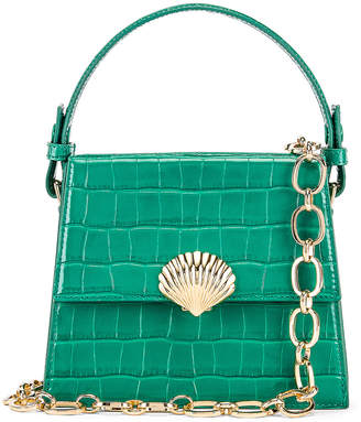 Rixo Jemima Bag in Emerald Croc Leather | FWRD