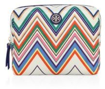 Tory Burch Tory Burch Printed Nylon Large Brigitte Cosmetic Case