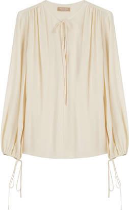 Michael Kors Draped Silk Blouse