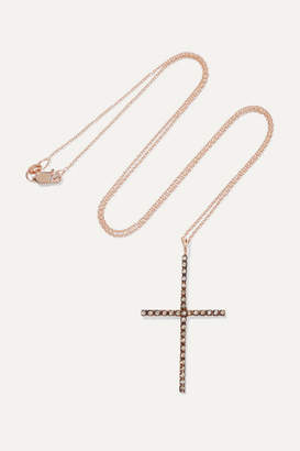 Ileana Makri 18-karat Rose Gold Diamond Necklace