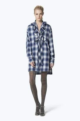Marc Jacobs Plaid Cotton Ruffle Dress