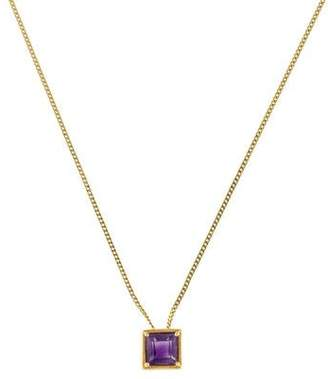 18K Amethyst Pendant Necklace