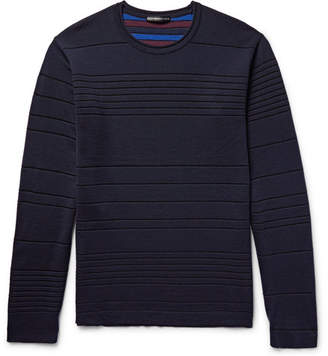 Issey Miyake Striped Double-Faced Wool-Blend Sweater
