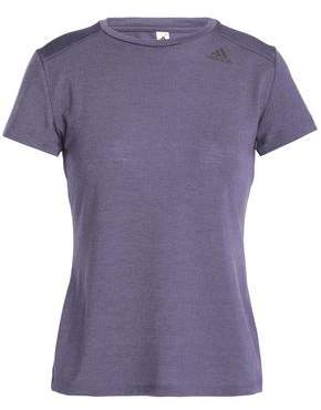 adidas Jacquard-Paneled Stretch-Jersey T-Shirt