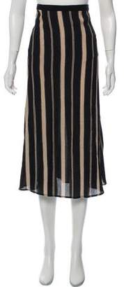 Reformation Striped Midi Skirt