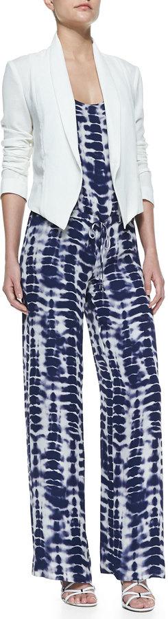 Haute Hippie Tie-Dye Stripe Jumpsuit