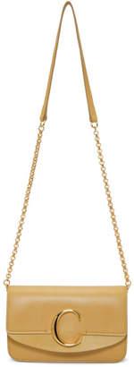 Chloé Tan C Chain Clutch Bag