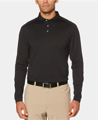PGA Tour Men Stretch Long-Sleeve Golf Polo