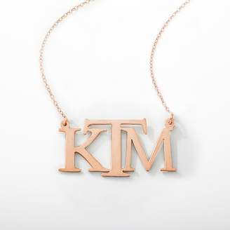 Pottery Barn Teen Monogram Block Necklace, Rose Gold-Filled