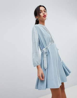 French Connection Tencel Stripe Shirt Dress