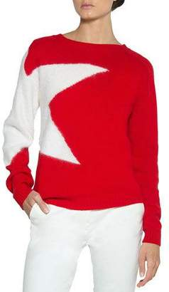 Eleventy Star Wool-Mohair Pullover Sweater
