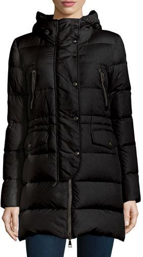MonclerMoncler Fragonette Quilted Puffer Coat w/Detachable Fur Hood