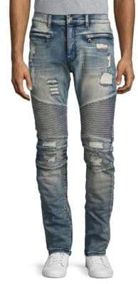 Reason Distressed Straight-Leg Jeans