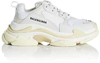 Balenciaga Women's Triple S Leather & Mesh Sneakers - White