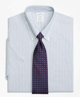 Brooks Brothers Regent Fitted Dress Shirt, Non-Iron Split Stripe Short-Sleeve